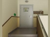 Противопожарная дверь с остеклением, одностворчатая